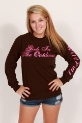 Girls in the Outdoors Brown LongSleeve